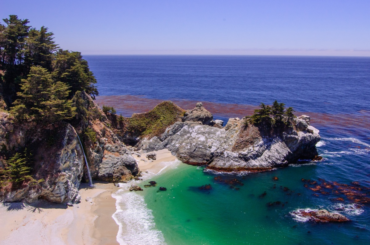 California Coast Drive >> California Highway 1, Big Sur State Park, McWay Waterfall – The Forgetful Wanderer