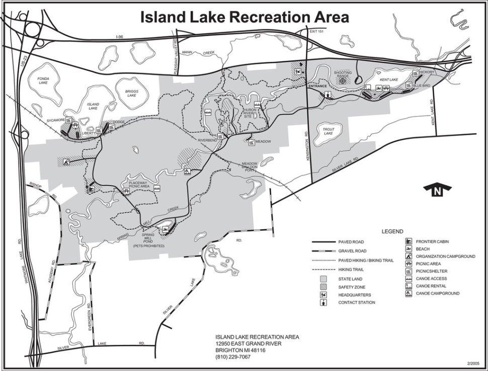 Island Lake Map
